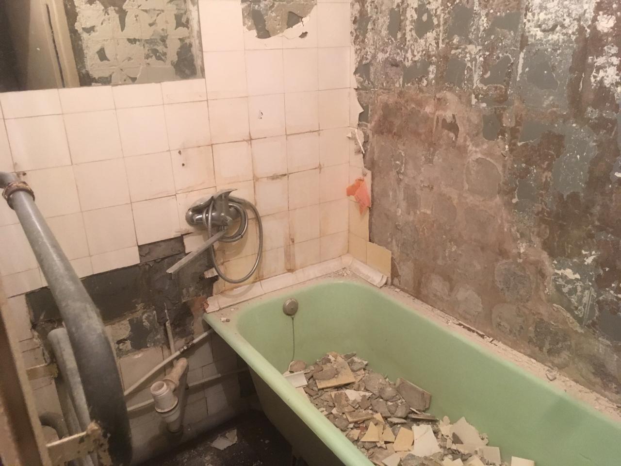 Ремонт ванной комнаты 137 серии 1,7 х 1,52
