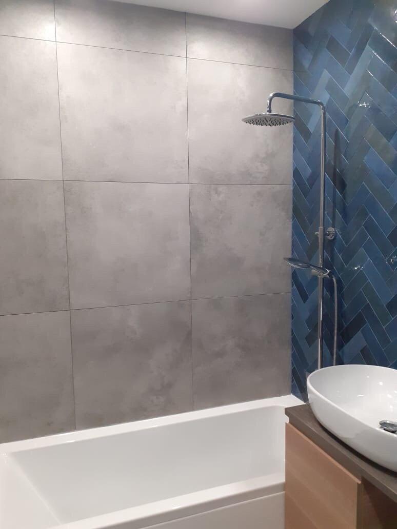 Ремонт ванной 2.58 м² и туалета 1.50 м²