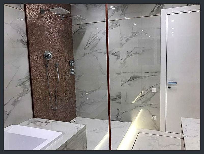 Ремонт ванной и туалета, камень